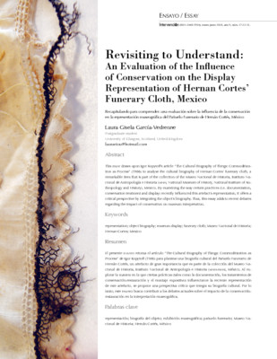Revisiting to Understand: An Evaluation of the Influence of Conservation on the Display Representation of Hernan Cortes' Funerary Cloth, Mexico