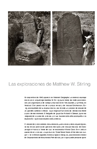 Las exploraciones de Matthew W. Stirling