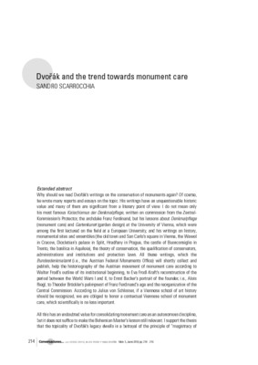 Dvořák and the trend towards monument care